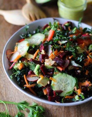 Detox Kale Salad with Lemon-Parsley Dressing