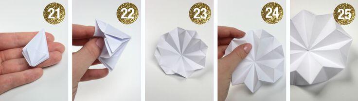 Origami julepynt - BLOG Bog & idé