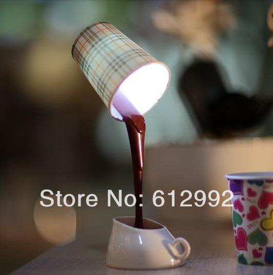 CUSCO Coffee Liquid Lamp DIY LED coffee cup lamp