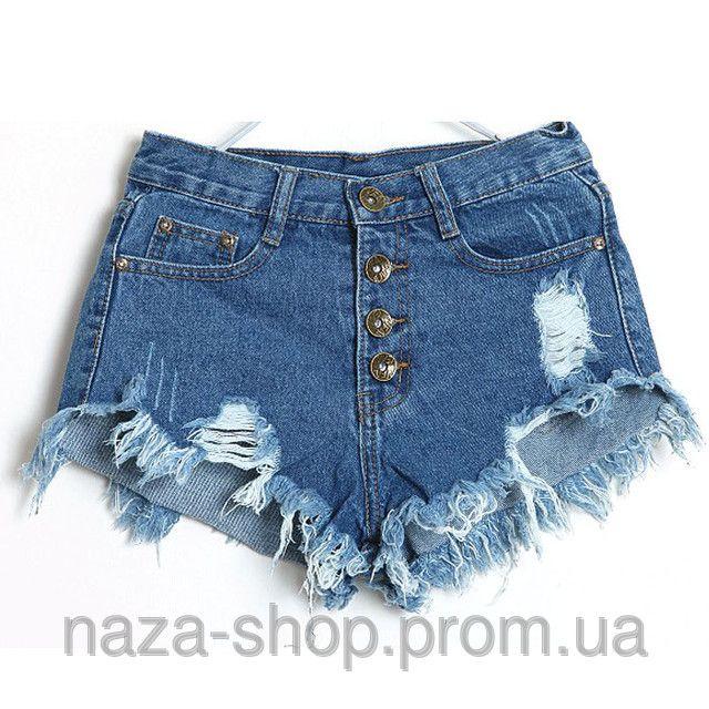 Джинсовые женские шорты с высокой талией Винтаж Деним 2015, цена 598 грн., купить в Одессе — Prom.ua (ID#85350568)