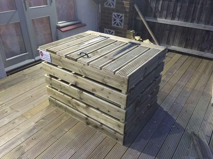 bin storage from decking - Google Search