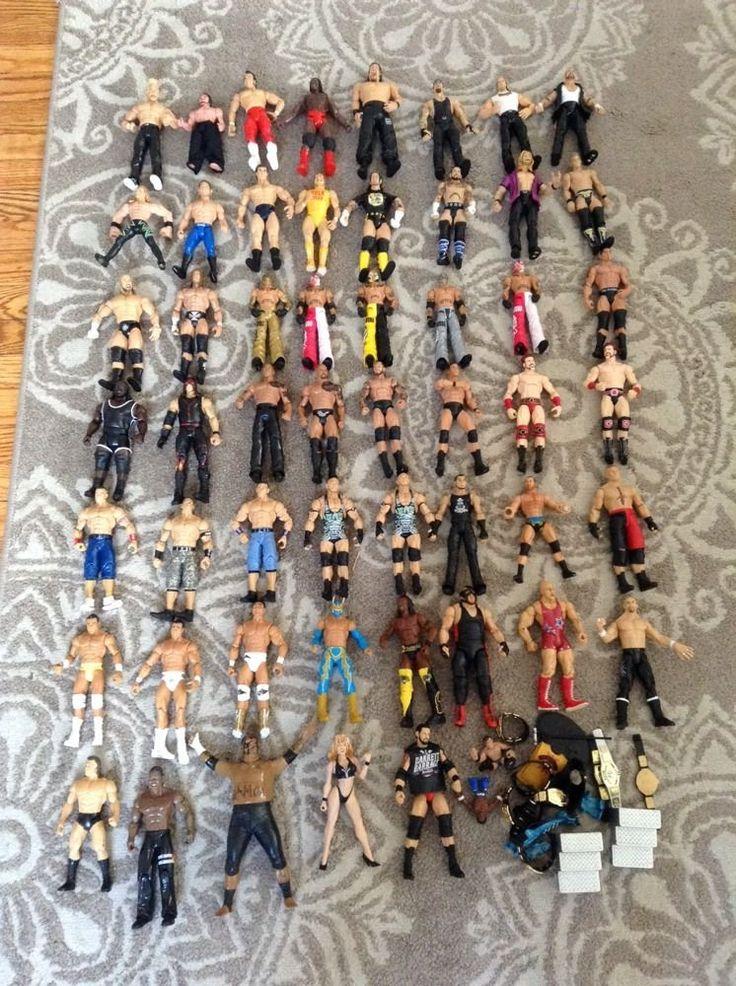 Lot Of 50+ WWE Jakks & Mattel Basic And Elite Wrestling ...