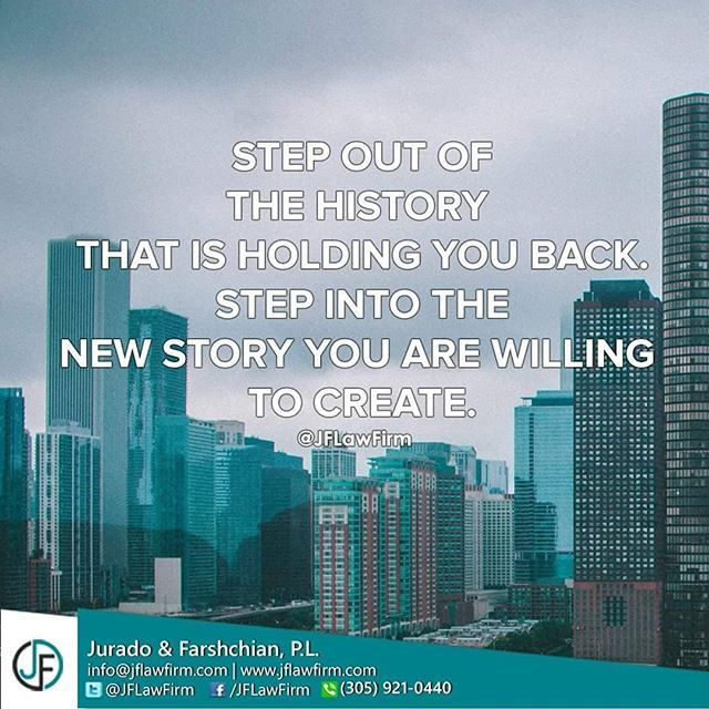 Step out of the history that is holding you back. Step into the new story you are willing to create. #Family #love #fun #BusinessLawyer #entrepreneur #Business #lovewhatido #miami #quotesoftheday #smallbiz #busineswoman #inspiration #entrepreneurlife #entrepreneurship #success #learn #startup #successquotes #startuplife #businessowners #ambition #dream #goals #lifegoals #nevergiveup #businesslife #motivated #motivation #hustle #dreambig