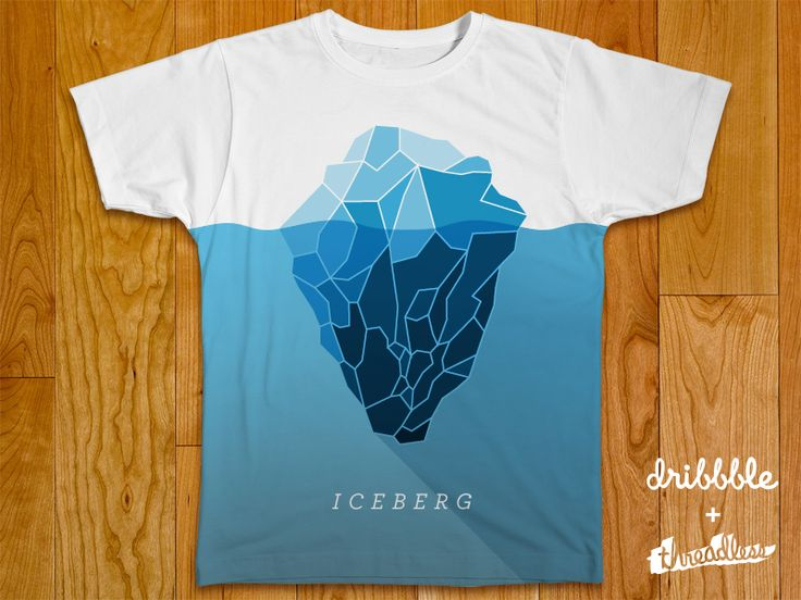 iceberg threadless shirt t shirt graphic designtee - Cool T Shirt Design Ideas