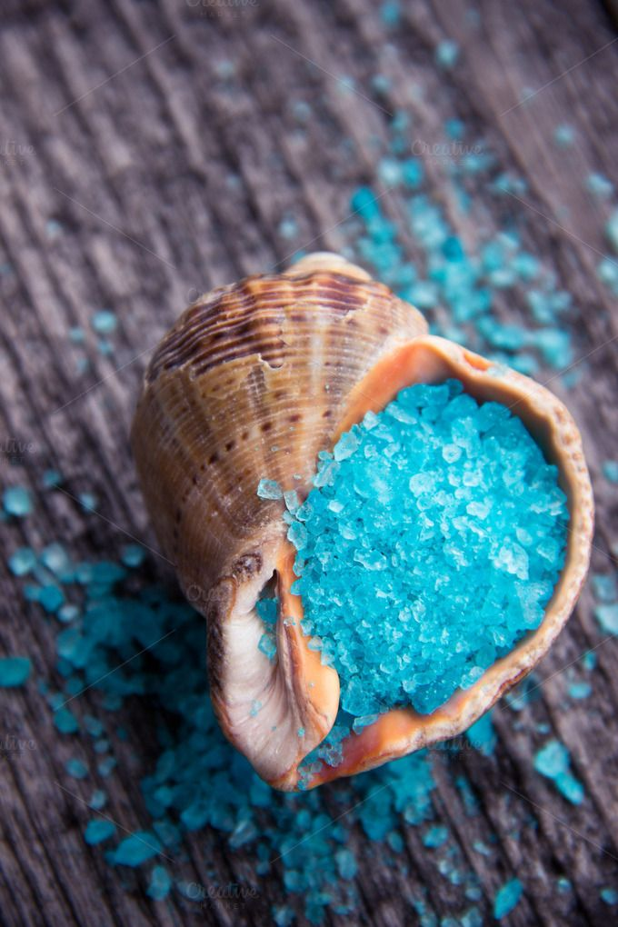 Bath salt in seashell. by Iliris on Creative Market
