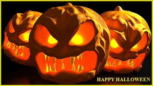 félelmetes Halloween jelenet