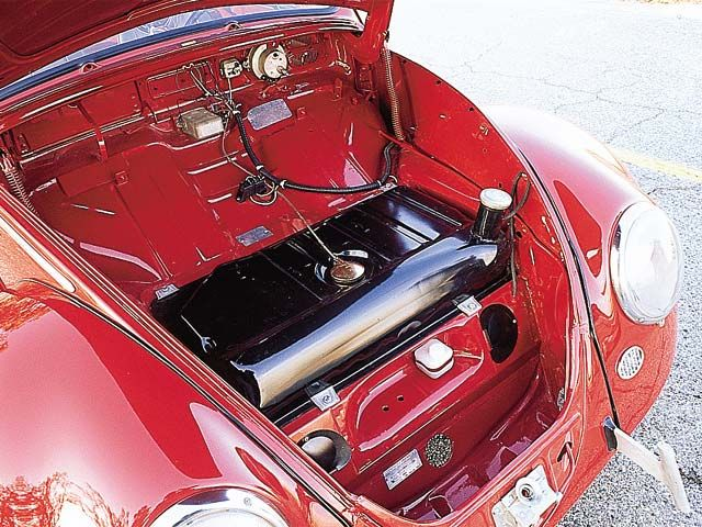1966 vw beetle original interior | 1966 Volkswagen Beetle Passenger Side Trunk Interior View ...