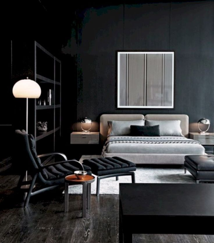 Masculine Dirty Master Bedroom With Giant Bed