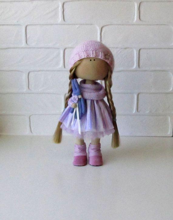 Lerika Doll-Handmade Doll-Textile Doll-Fabric Doll-Rag Doll-Home Decoration-Handmade Toy-Interior Doll-Christmas Gift-Dolls