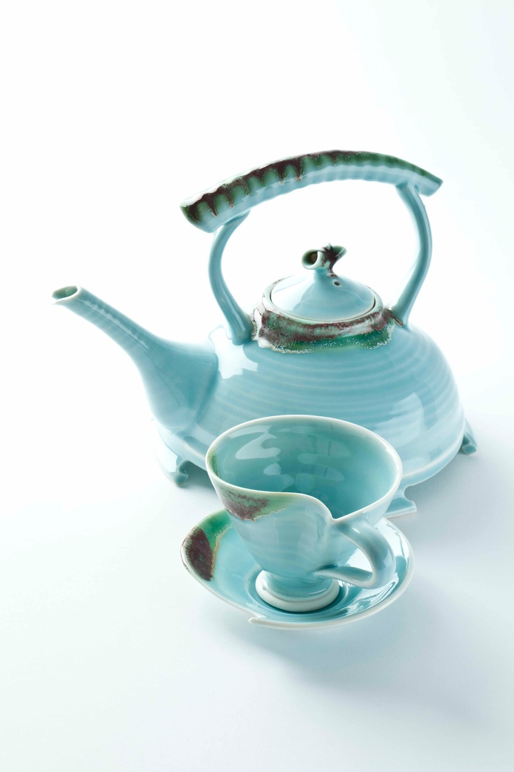 Touch Design Ceramics 'The Wave Collection' range. Teapot €80 cup and saucer €28
