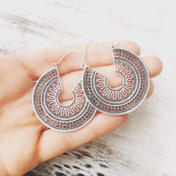 VENTA pendientes de color plata pendientes Boho por LalaBoho