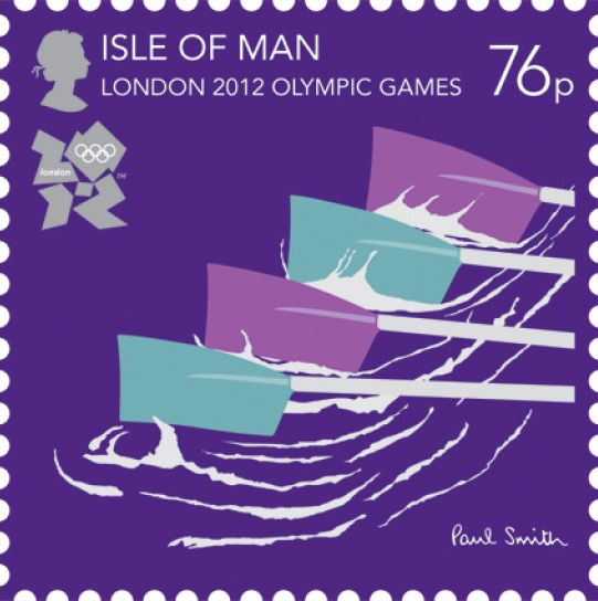Rowing - London 2012 Olympics: Paul Smith Isle of Man stamps, in pictures