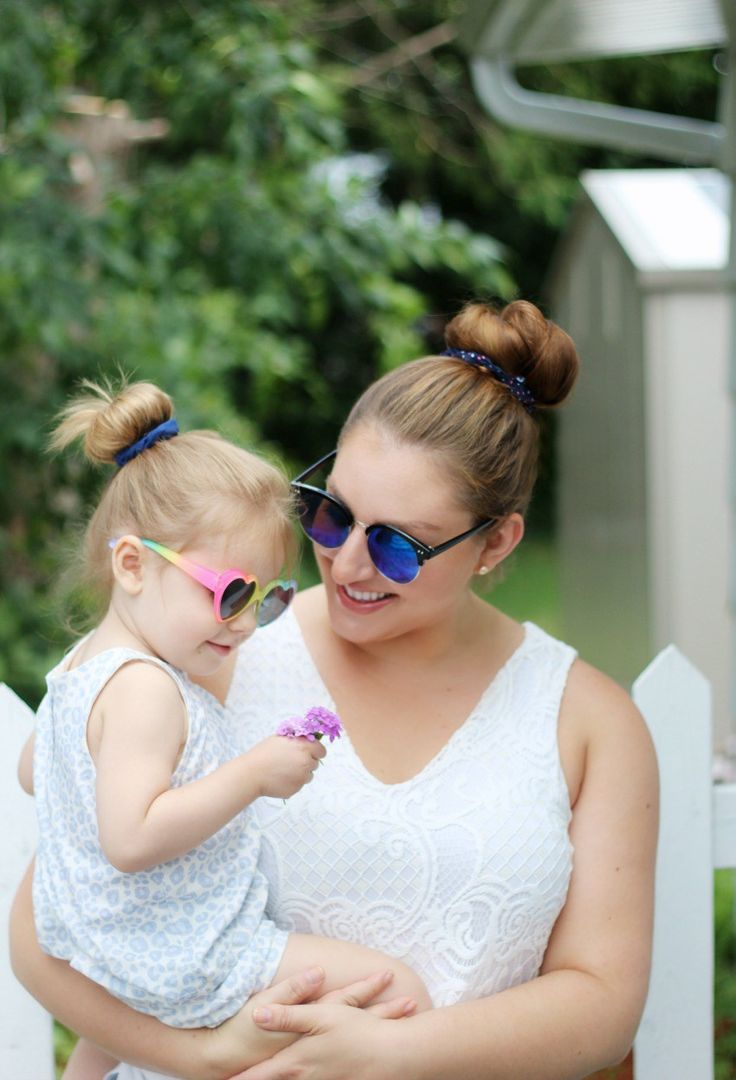 Mommy and me matching summer hairstyles