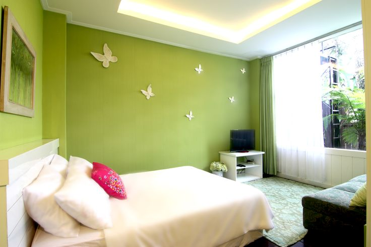 Green Connecting King size bed, Satelite TV, bathroom, refrigerator, private terrace, dog allowed, wifi
