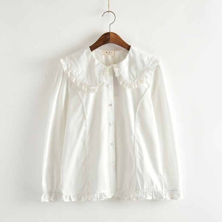 Aliexpress.com: Comprar Conejito collar de peter blusa blanca lolita camisa hermana suave cosplay lindo tops verano de las mujeres camisas de algodón blanco del envío libre de 10 mejores gafas de sol de las mujeres fiable proveedores en Himifashion