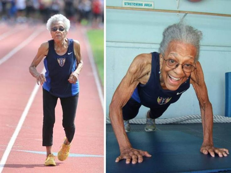 "Ida Keeling 99 years old | 99-Year-Old Sprinter Sets World Record: ""I'm Running From Old Age""  Advice: ""Eat for nutrition, not for taste.  Do what you need to do; not what you want to do.  Don't leave out your daily exercise.  Love yourself."""