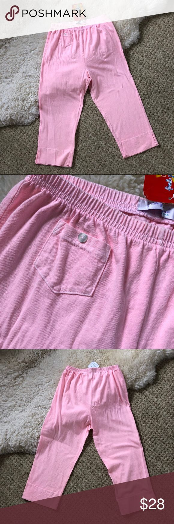 NEW Nordstrom Fresh Produce Pink Pants Size Medium Fresh Produce Perfect Pink Pajama Bottoms Carried at Nordstrom.  Brand New With Tags.  Bright and fresh.  Elastic waist.  Made in USA.  Fresh Produce is known for their hot color shades. So this pink is a light but a more neon light pink than the photos show.  Color: Perfect Pink Size: Medium Fresh Produce Intimates & Sleepwear Pajamas