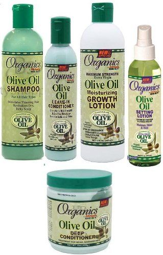 Afric'as Best Olive Oil Organics 5 Pcs Set (Shampoo, Leave-in Conditioner, Growth Lotion, Deep Conditioner) Plus 3 Free of Apple EYE Pencil Color: Grey ** Check out the image by visiting the link.