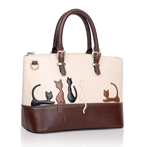 Women Animal Contrast Color Handbags Cat Shoulder Bags Rabbit Crossbody Bags
