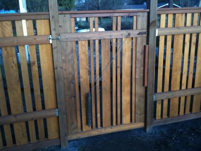 17 best images about fence ideas on pinterest corrugated for Craftsman style fence