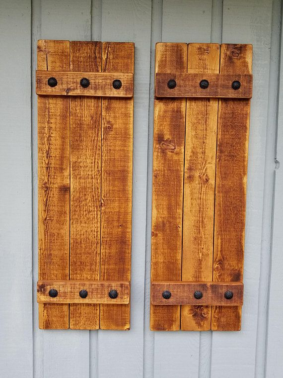 Rustic Exterior Wood Shutters Hand Forged Clavos Decorative Shutters Rustic Shutter