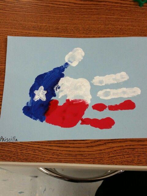Texas Public School Week hand painting