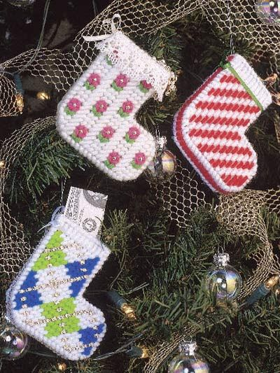 Plastic Canvas - Special Occasions - Christmas - Musical Stockings - #FP00277