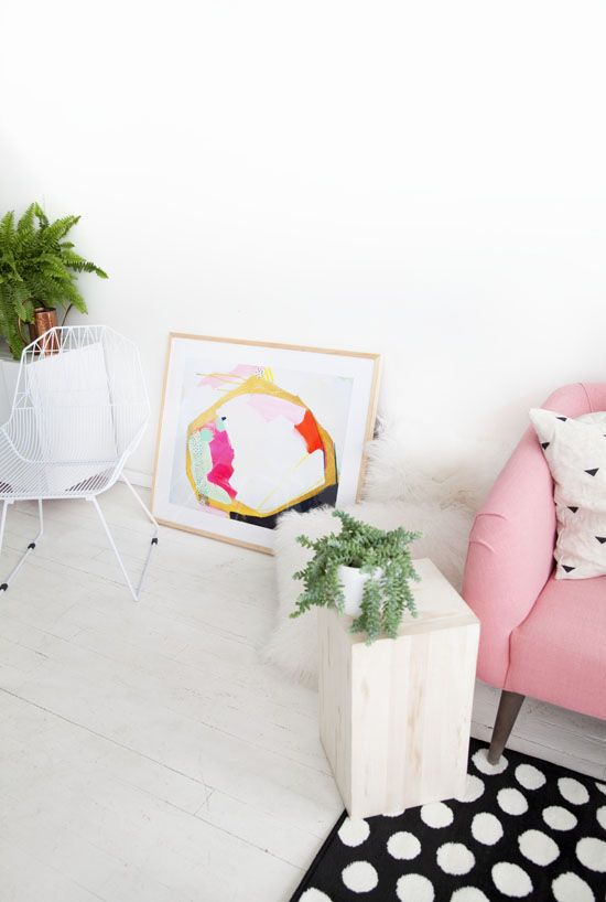 STUDIO WALLS: Decor, Donkeys Tail, Living Rooms, Dots Rugs, Studios Wall, Pink Chairs, Interiors House, Designlovefest Studios, Colour Pink