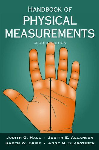 Handbook of Physical Measurements (Oxford Handbook Series) by Judith Hall. $23.86