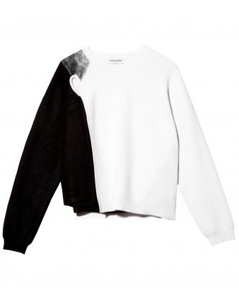 Opening Ceremony Black & White Pullover - Shop chic ways to try the normcore trend: http://shop.harpersbazaar.com/trends/normcore/
