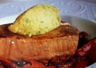 LE GUSTOSE RICETTE  DI NONNA MARIA: Tonno in salsa di zenzero con funghi e patate