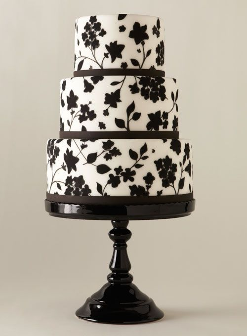 Black and White Sheet Cakes   black and white wedding cake unique wedding cakes flower cake black ...