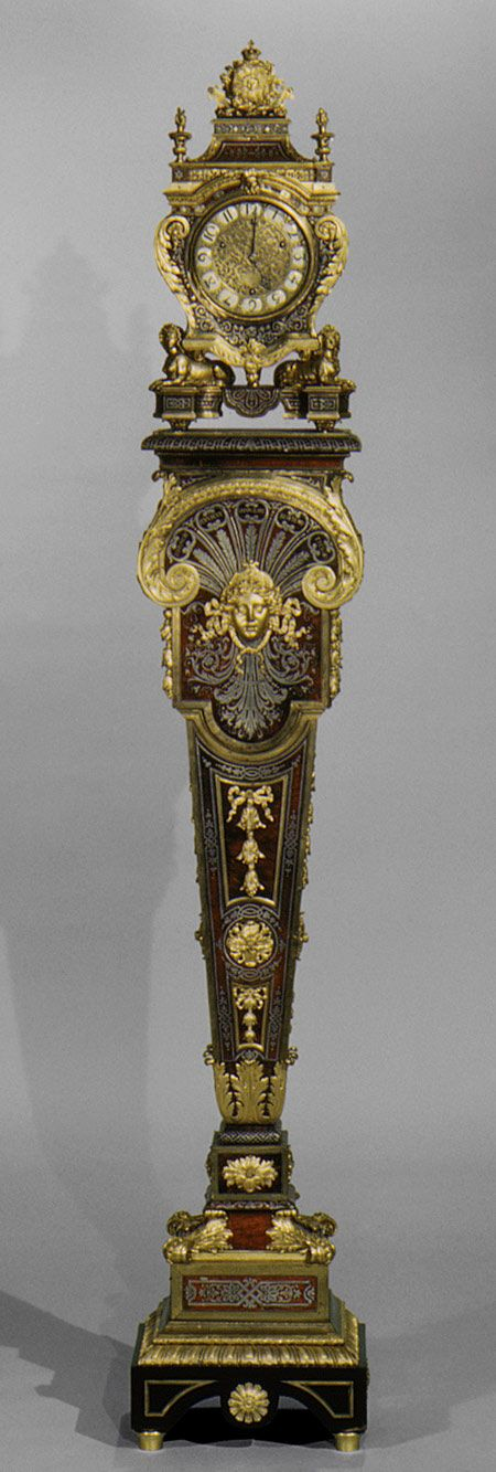 Louis Quatorze: Clock with pedestal, c. 1690. Clock Movement by Jacques II Thuret, case by André-Charles Boulle