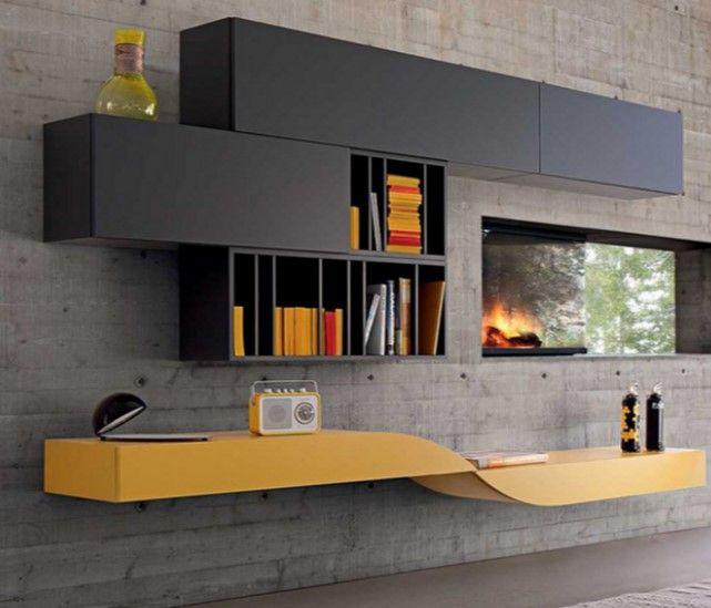 Moderne Wohnwand U2013 Modulsystem Verleiht Dem Wohnzimmer Individualität, Moderne Wohnwände Im Wohnzimmer