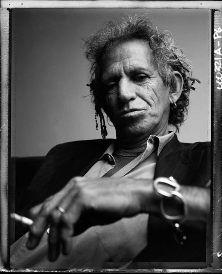 Keith Richards (1943) - English musician, singer and songwriter, and one of the original members of the English rock band the Rolling Stones. Photo © Patrick Demarchelier