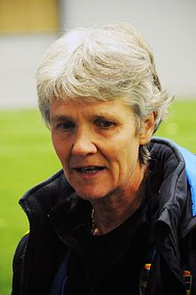 Pia Sundhage, head coach for Swedens ladies national team in Football since 2012. Previously head coach for the US ladies national team(2008-2012), with which she won two gold medals at OS!