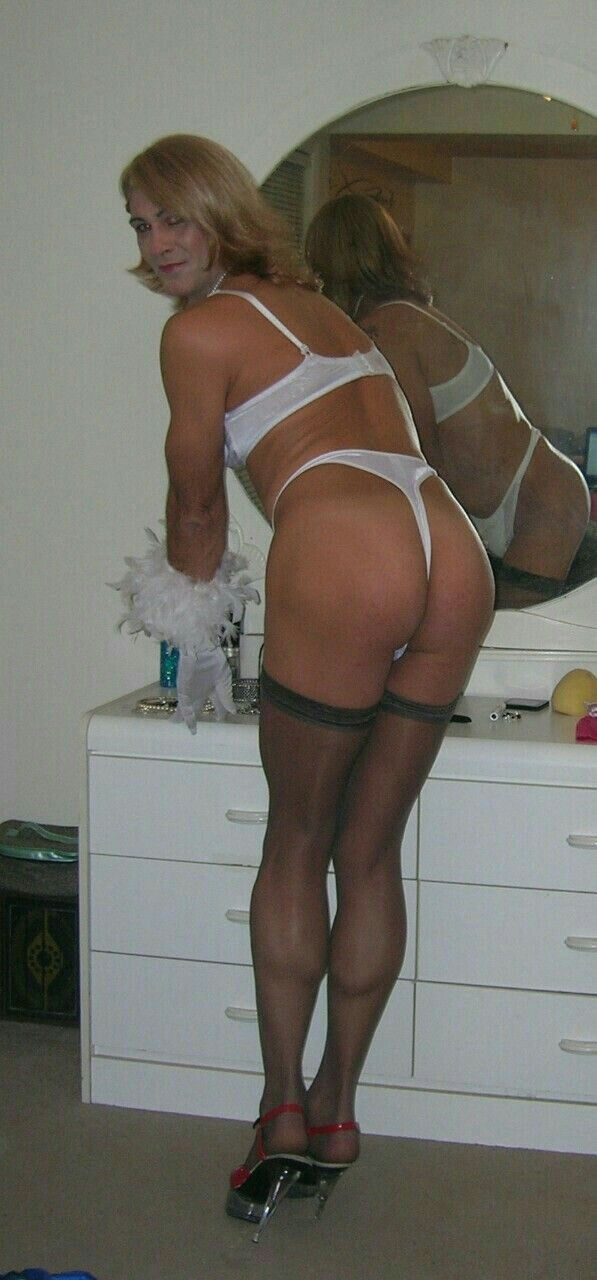 Crossdresser in bra and panties