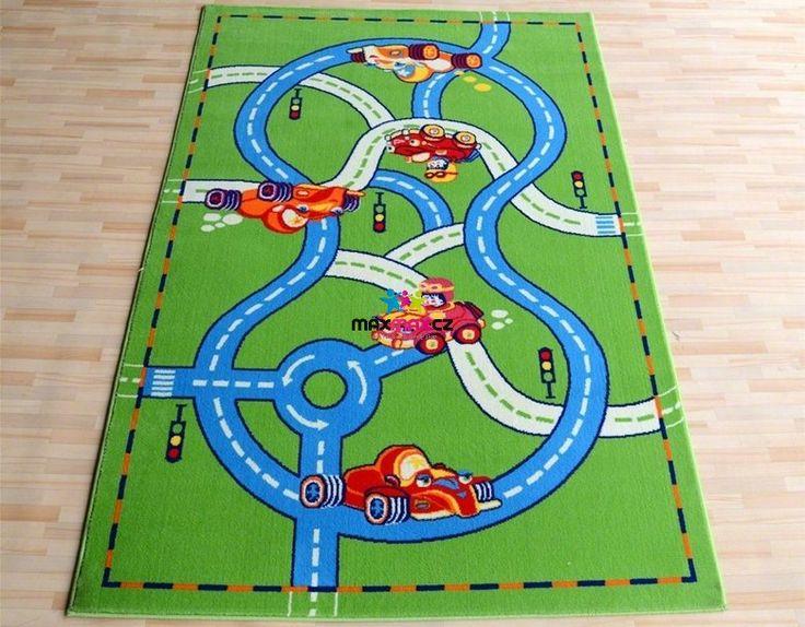 Dětský koberec DRÁHA zelená 2