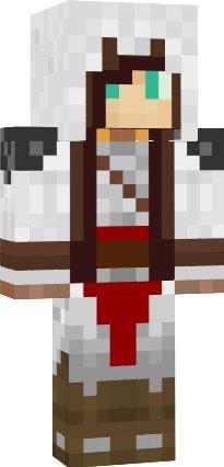 Minecraft Assassin Girl Skin | Girl Assassin brown hair ...