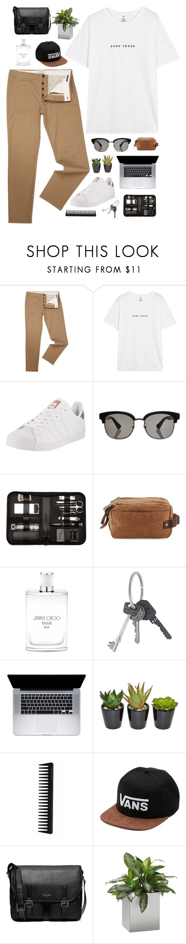 """""""Men's #2"""" by amy-lopezx ❤ liked on Polyvore featuring Jack & Jones, adidas, Gucci, Bey-Berk, Will Leather Goods, Jimmy Choo, Givenchy, The French Bee, GHD and Vans"""