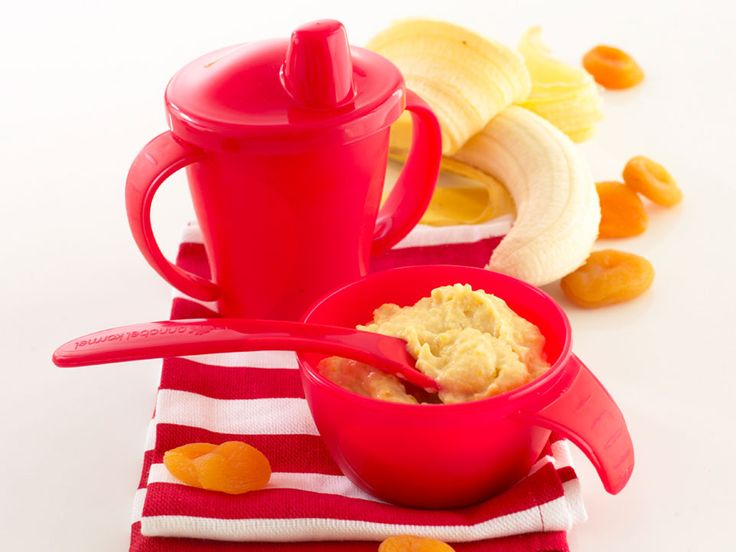 Baby yogurt with bananas make perfect instant baby food and they combine well with many other fruits like peach, mango, blueberry and strawberries.