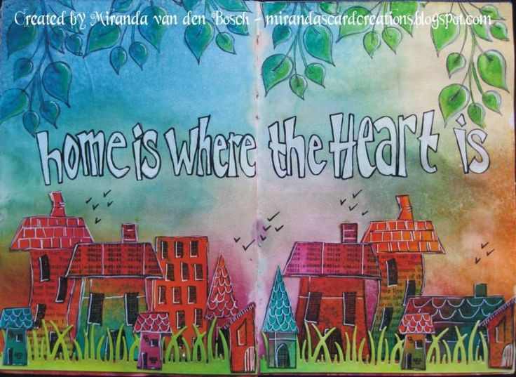home is where the heart is by macbosch - Cards and Paper Crafts at Splitcoaststampers
