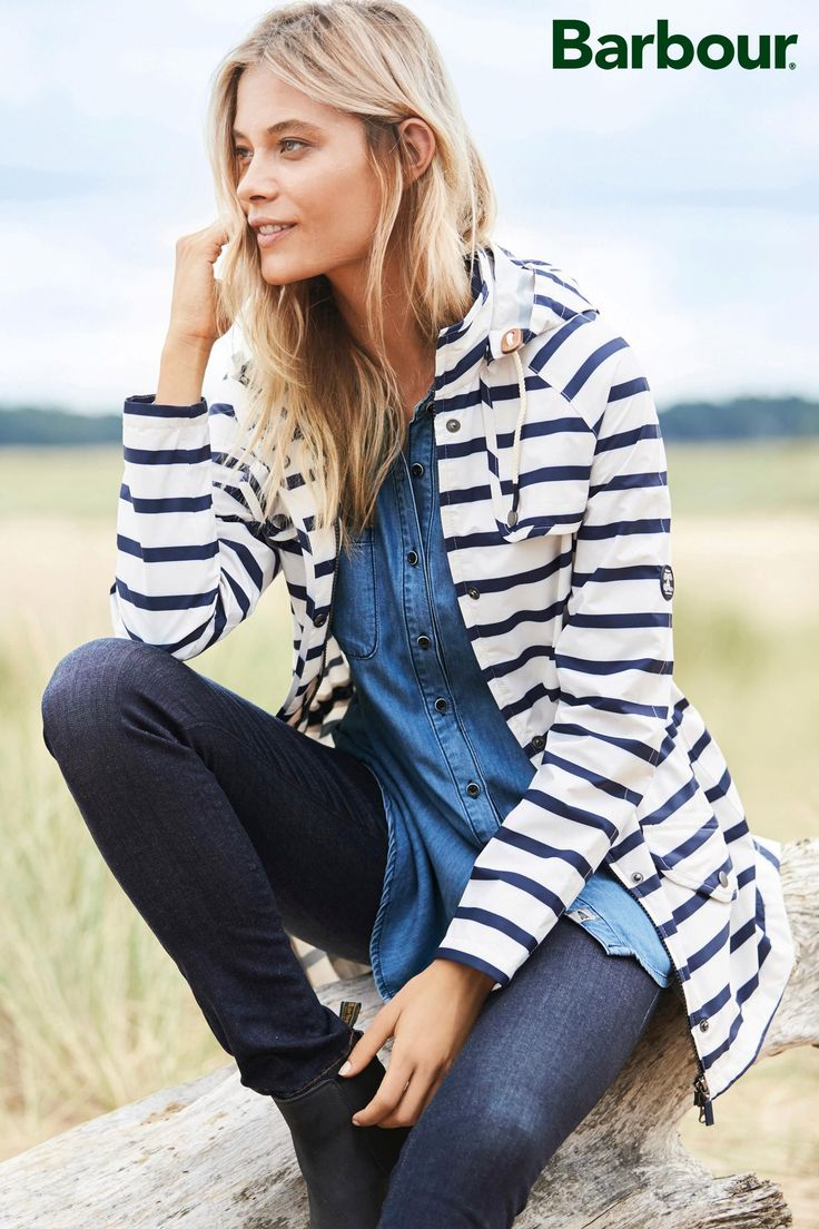 Buy Barbour® Navy/White Stripe Trevose Jacket from the Next UK online shop