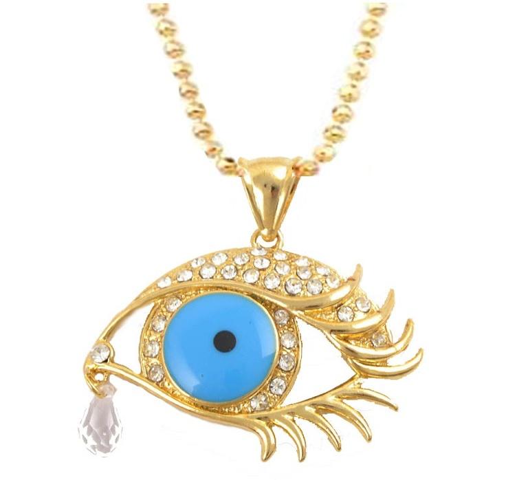 14 karaat verguld goud ketting met boze oog ingezet met zirkonen.  http://www.goudkat.com/a-28015727/welkom-bij-goudkat/14-karaat-verguld-goud-ketting-met-boze-oog-ingezet-met-zirkonen/#