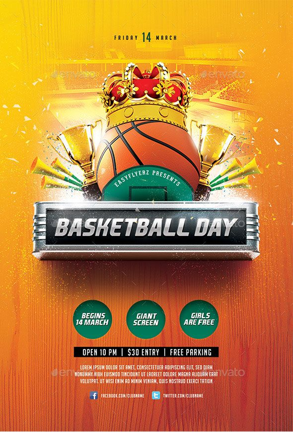 Basketball Day Flyer Template A modern and unique flyer template - harmony flyer template