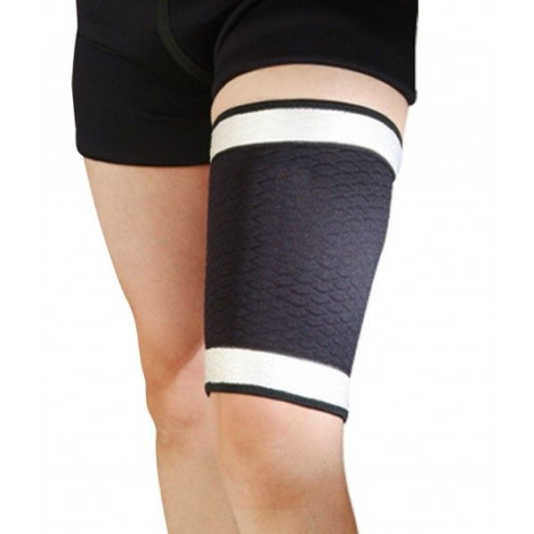 Nivia Thigh Support Product Code: FS1607  Size: One Size Fits All  Nivia Thigh Support is made of a unique blend of extra-strength elastic and transverse nylon fibers which combine to give you long-lasting, heavy-duty support.  This Product is been made of unique blend of extra strength elastic and transverse nylon fibres which combine to give you long-lasting, heavy-duty support.  Besides it is hand washable and can be reused.  MRP: Rs 380.00/- Discount: 0 % Our Price:Rs 379.00/-