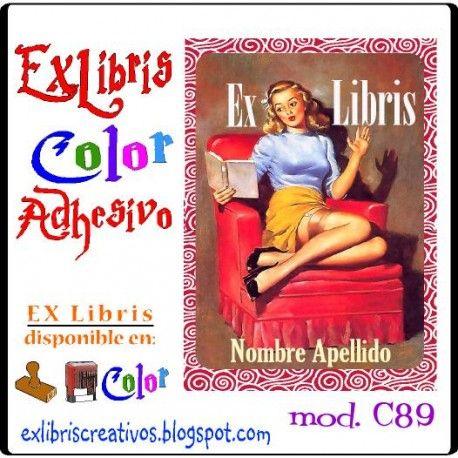 #EXlibrisColor Pin-up sillón Referencia C89 Una pin-up es una fotografía u otro tipo de ilustración de una chica en actitud sugerente o realizando una sonrisa, saludando o mirando a la cámara fotográfica, que suele figurar en las portadas de revistas, cómic-books o calendarios. ¡Diseño disponible en sello de caucho! (w147) #EXLibris Creativos Color es la manera más original y divertida de personalizar tus #libros y #comics!!  ¡¡Visita nuestra web http://exlibriscreativos.es y déjate…