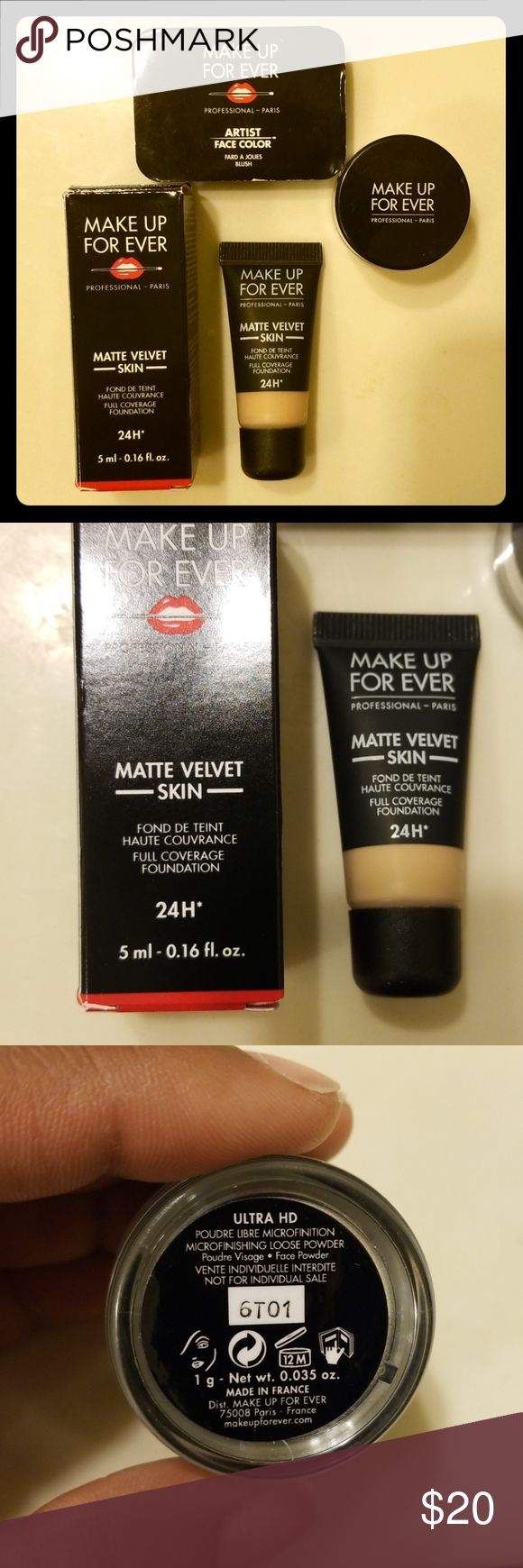 Makeup Forever MINI Bundle Foundation, microfinish loose