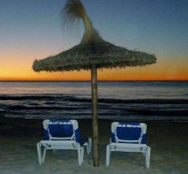 Sunrise on a Sa Coma Beach in Majorca