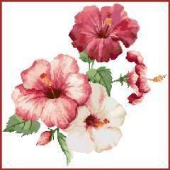 Hibiscus Flowers Cross Stitch Kit | sewandso